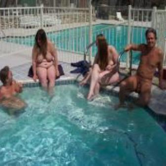 boys and girls swimming naked